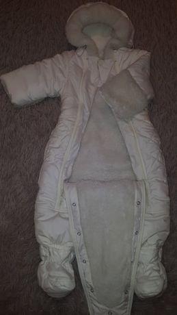 Зимний и деми комбинезон-трансформер для малышей (Бемби)