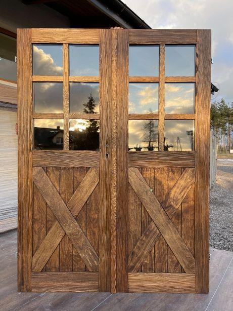 Drzwi dwuskrzydłowe szczotkowane ,posztarzane ,olejowane CAŁY KRAJ