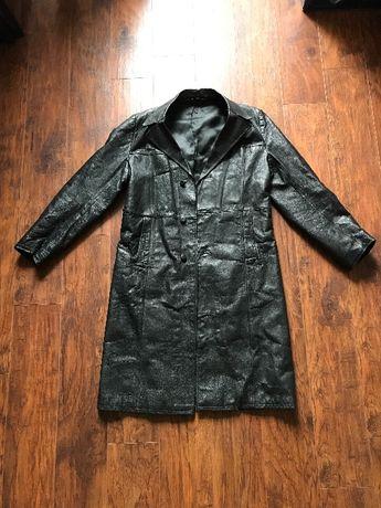 Płaszcz skórzany męski