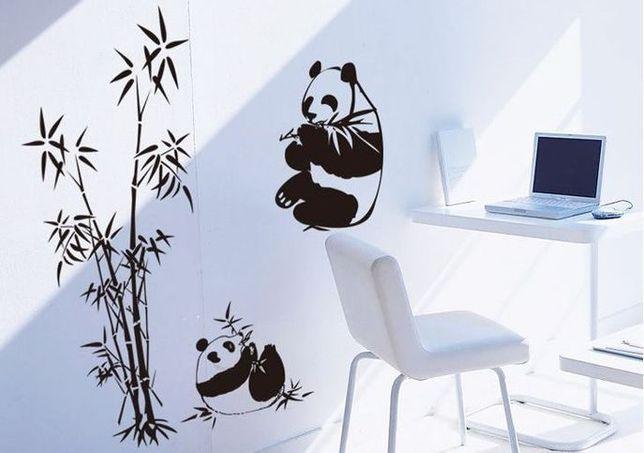 Naklejka na ścianę Bambus Pandy Ws-0280