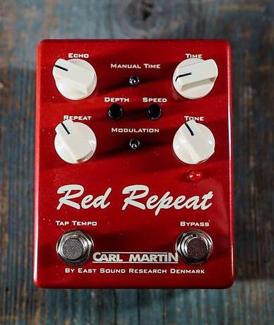 Pedal Carl Martin Delay Red Repeat V3 Delay Tap Tempo