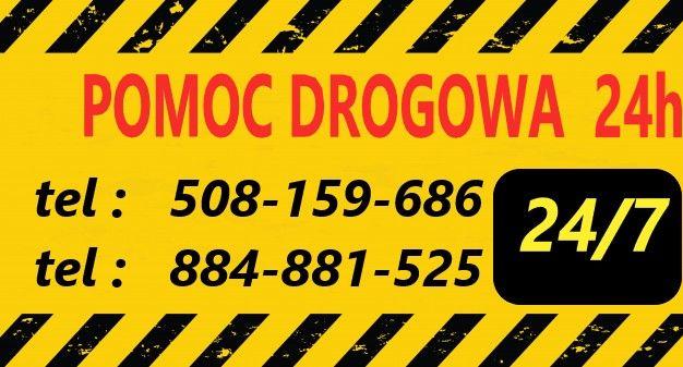 Pomoc Drogowa, transport samochodów i maszyn do 3.5 t.
