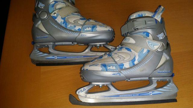 Łyżwy Fila regulowane 32-35 x-one ice stan bdb ostre krawedzie