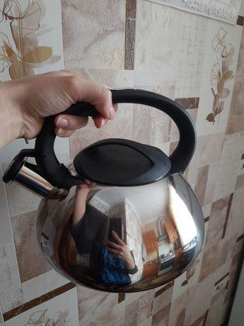 Чайник 3 л со свистком, нержавеющая сталь