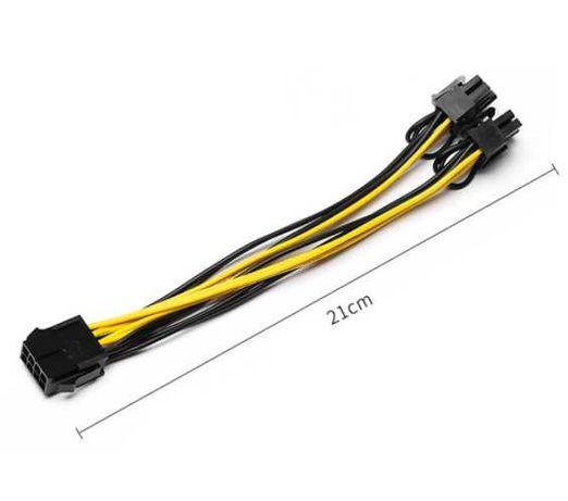 PCI-express 8 pinos para duplo 8 (6+2) - alimentação placa gráfica