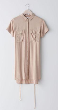 Beżowa sukienka sinsay r. M