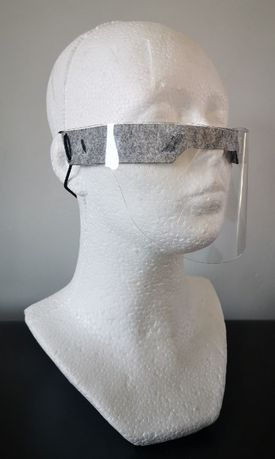 Mini przyłbica ochronna, wygodna maska ochronna / VAT / Gratis