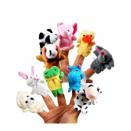 10 мягких игрушек на палец.