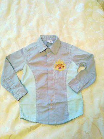 Красивая нарядная стильная рубашка сорочка на 3-4г 92-98