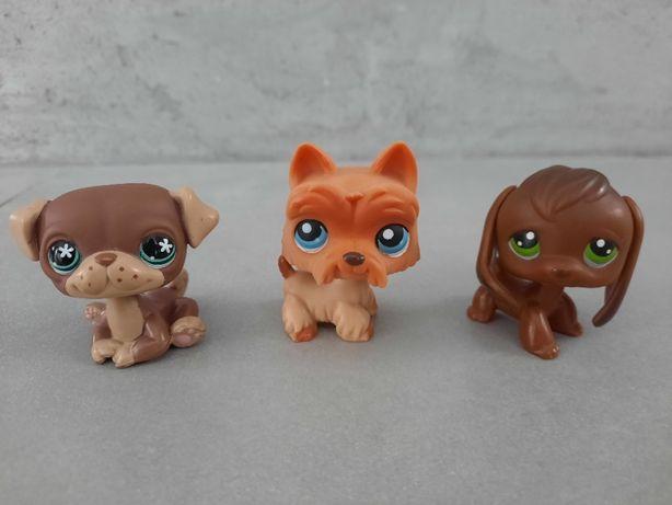 3 figurki LPS Littlest Pet Shop Petshop #889 #249 terier #77 beagle
