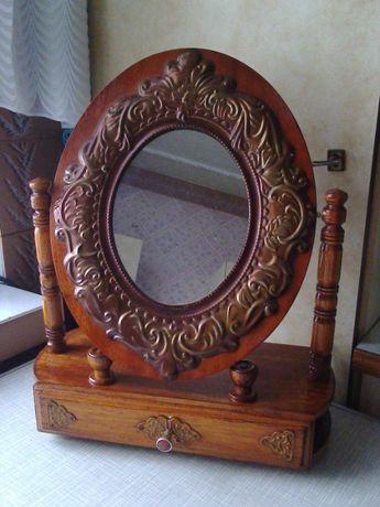 Полка+зеркало+шкатулка (полочка-надстройка) для туалетного столика №1