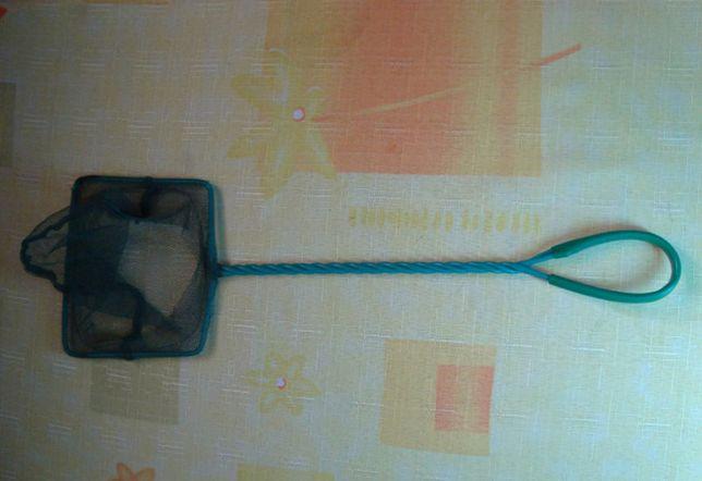 сачок аквариумный, зеленая сетка (15x18x55 см)