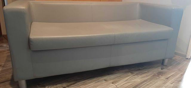 Sofa 2-osobowa ze skóry ekologicznej