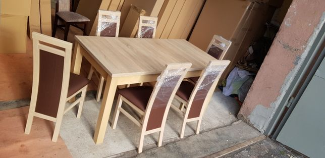 Nowe ! Zestaw 80x160/200 + 6 krzeseł , rożne kolory , gratis transport