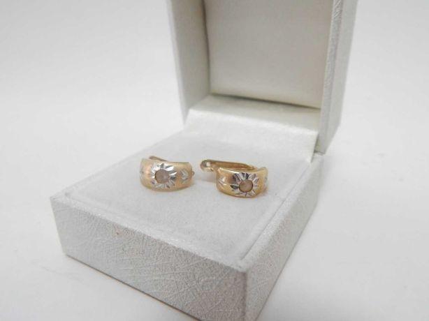Śliczne złote kolczyki -585-