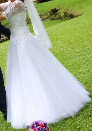 Suknia ślubna rozmiar 36 w komplecie już welon i bolerko