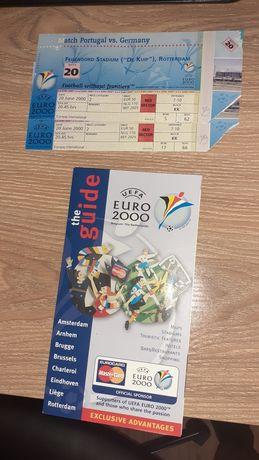 Bilhetes Euro 2000 (Portugal vs Alemanha)e Guia do Europeu