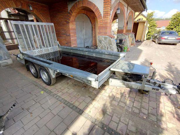 Przyczepa Brenderup DMC 3500 kg, pod minikoparkę, sprzęt budowalny