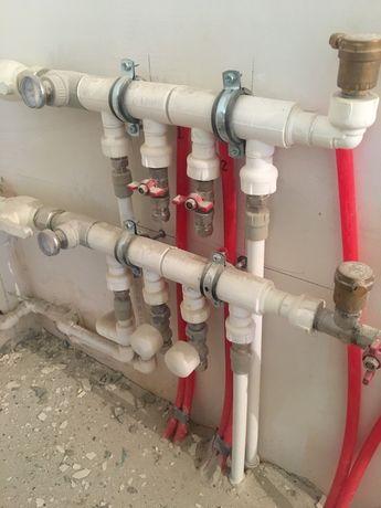 Монтаж водопровод, канализация, отопление, теплый пол, водоочистка.