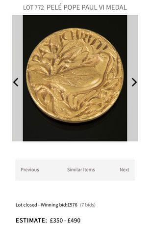 Moneta numizmatyka Pax Christi Paulus VI Pont Max