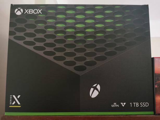 Xbox Series X + comando + 2 jogos