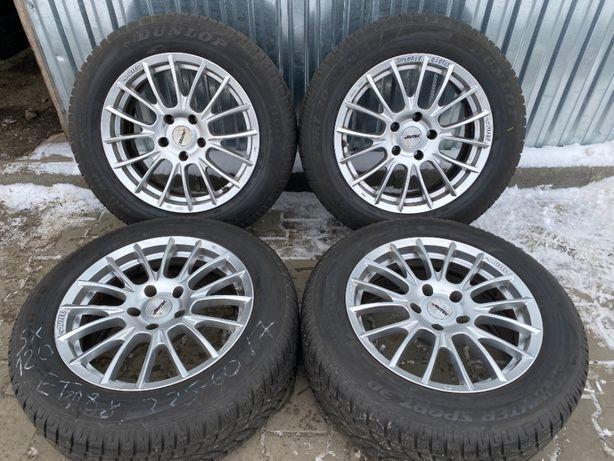 Диски Autec 5/120 R17 8J et25+225/60R17 Dunlop 3D ранфлет