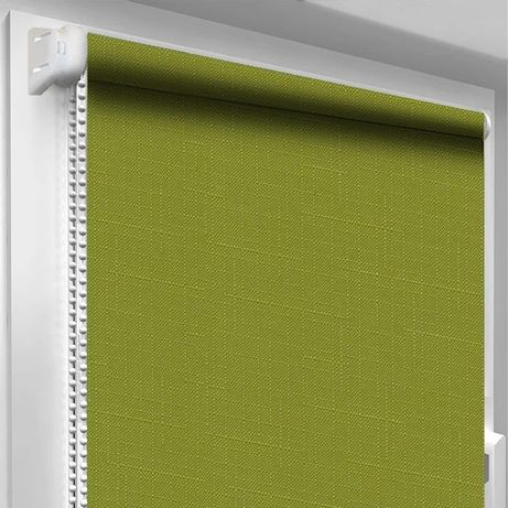 Рулонные шторы (зелёный лён) ролеты, жалюзи