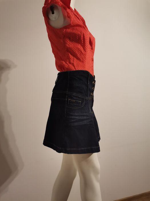 Spódnica Jeansowa krótka z wysokim stanem L Reporter denim. Białystok - image 1