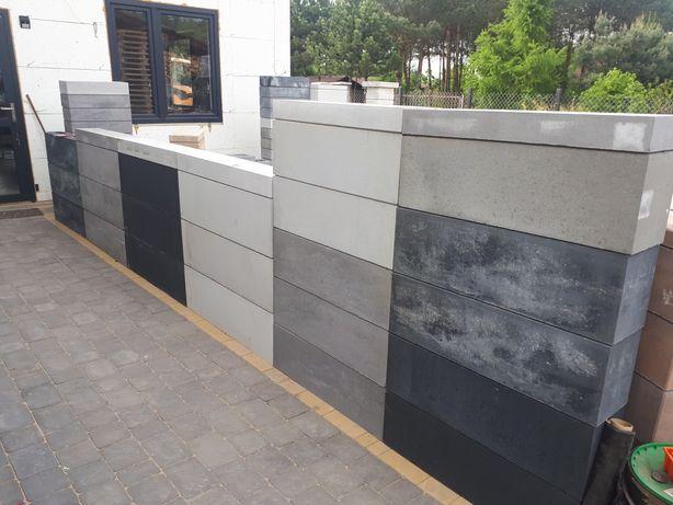 Bloczek łupek lupane gladkie,pustak,ogrodzenie betonowe 50x20x20cm