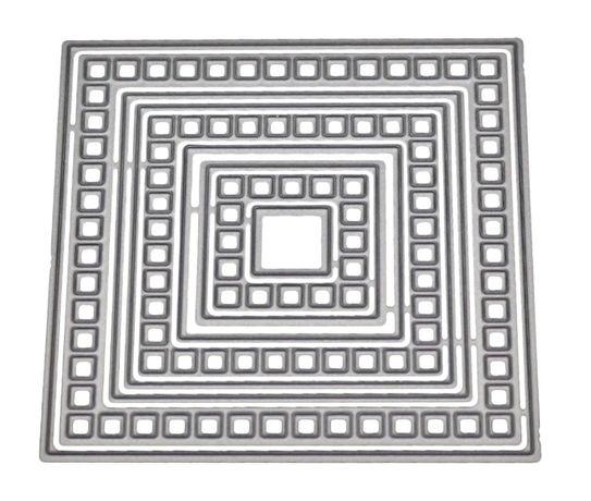 Wykrojnik ramki kwadratowe 9el. z dziurkami