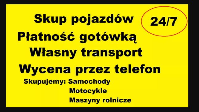 Skup Samochodów, Aut, busów , motocykli, motorów, Zielona Góra GOTÓWKA