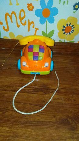 Музыкальный телефон каталка