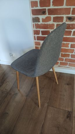 Krzesła szare 6szt. + nowe siedziska