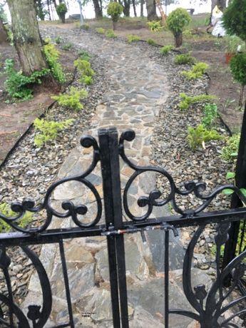 kamień na ścieżki w ogrodzie, chodniki kamienne, szarogłaz, Wysyłka !