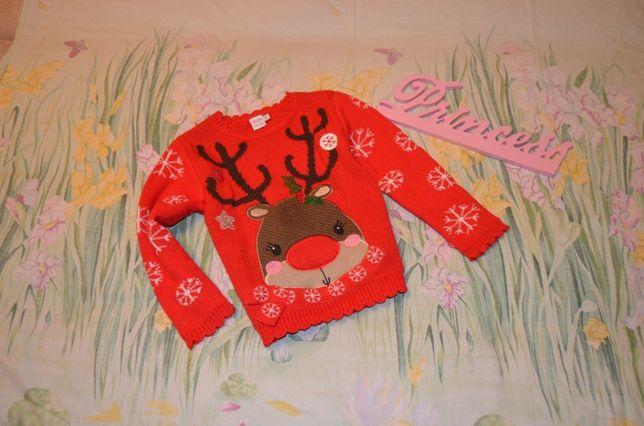 Новогодний свитшот свитер светрик 4-5 лет