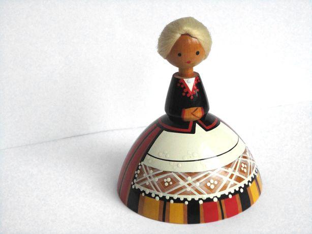 Кукла деревянная паричковая Девочка SALVO Tallinn ИДЕАЛЬН. СОСТОЯНИЕ!