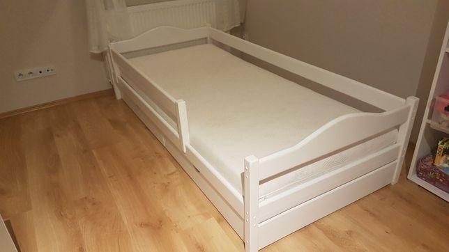 Łóżko dziecięce białe drewniane 200x90
