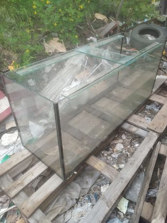 Аквариум  на 490 литров стекло 10 мм бу