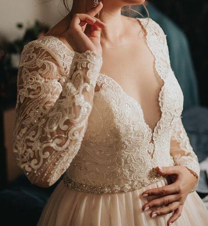Suknia ślubna Nora Naviano Sposa, model Verena rozmiar M, długi rękaw