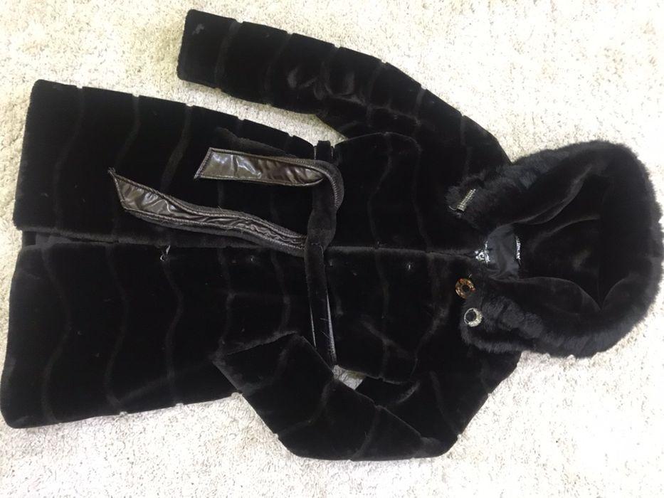 Искуственная мутоновая шубка темно-коричневая Бобровка - изображение 1