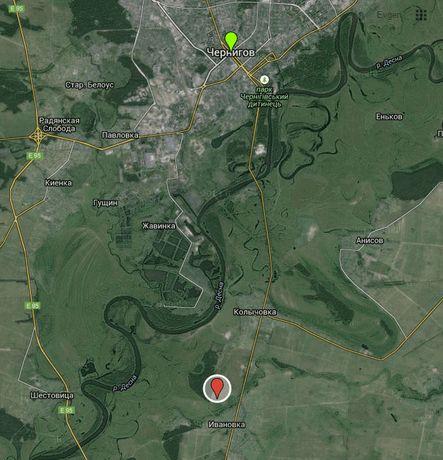 Участок земли между селом Количевка и Ивановка (10 соток)