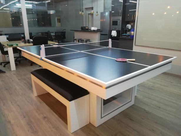 Bilhares Europa fabricante mod Monaco oferta tampo jantar e Ping pong