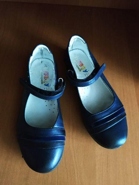 Туфлі шкіряні, туфельки для дівчинки 29р.