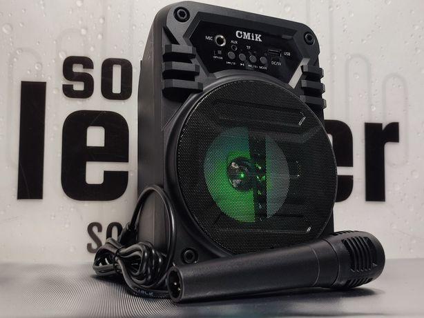 Zestaw karaoke głośnik bluetooth bezprzewodowy mikrofon radio MP3