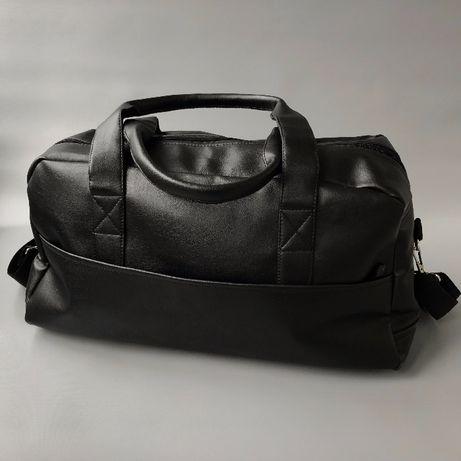Практичная дорожная тренировочная, спортивная, кожаная сумка! АКЦИЯ!