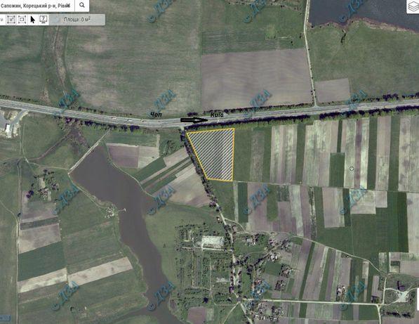 Продам земельну ділянку в Корецькому районі, Рівненської області.