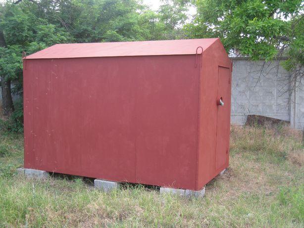 продаю металлический утеплённый гараж для лодки в хорошем состоянии