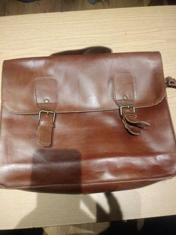 Skórzana torba retro listonoszka WYSYŁKA KURIEREM GRATIS