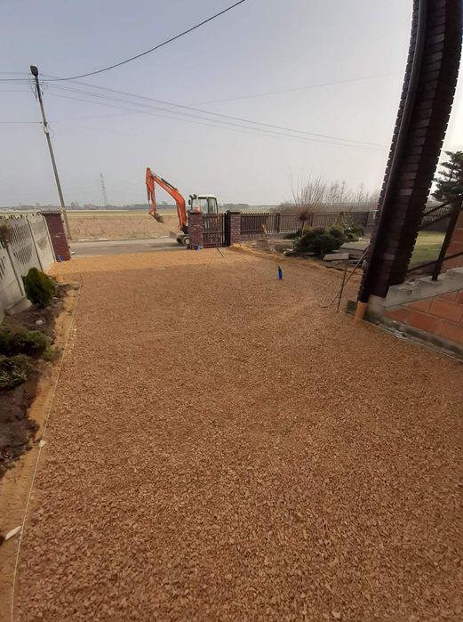 Utwardzenie terenu,przygotowanie terenu pod kostkę, Kruszywa,piasek Borowa - image 1