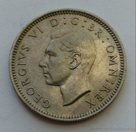 1951 Great Britain 6 Six Pence Copper Nickel